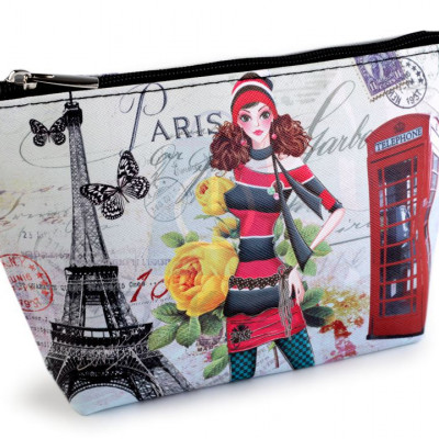 Kosmetiktasche / Etui London, Paris, Prag 14x23 cm
